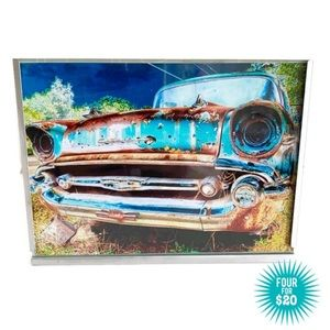 Other - Framed Photo Rusted 1950s Chevrolet 5x7 '57 Chevy